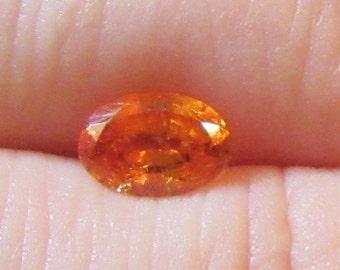 Oval 5x7mm Orange Garnet Natural Gemstone .75 Carat Spessartite