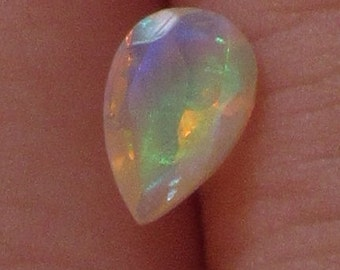 Ethiopian Opal 5x7mm Natural Gemstone Brilliant Color Flash with Video