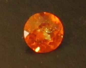 Vivid Round Orange Garnet 1.05 Carats Natural Spessartite Gemstone 6.25mm