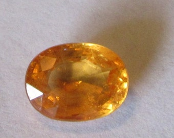 2.15 Carat Orange Spessartite Garnet Natural Oval Gemstone 6.5x8.5mm with Video