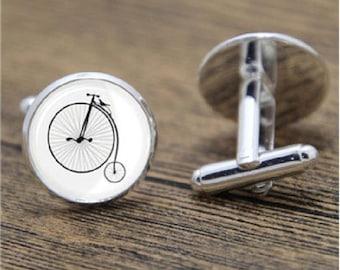 Penny Farthing Bike Cycling Velo Handmade Cuff-links