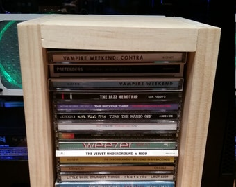Wooden Shelf CD Rack DVD Rack Vertical Storage