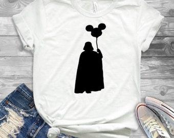 1011c4cdf Darth Vader Mickey Balloon, Star Wars shirt, Disney fan shirt, Disney parks  shirt, Disney shirt, Disney World Shirt