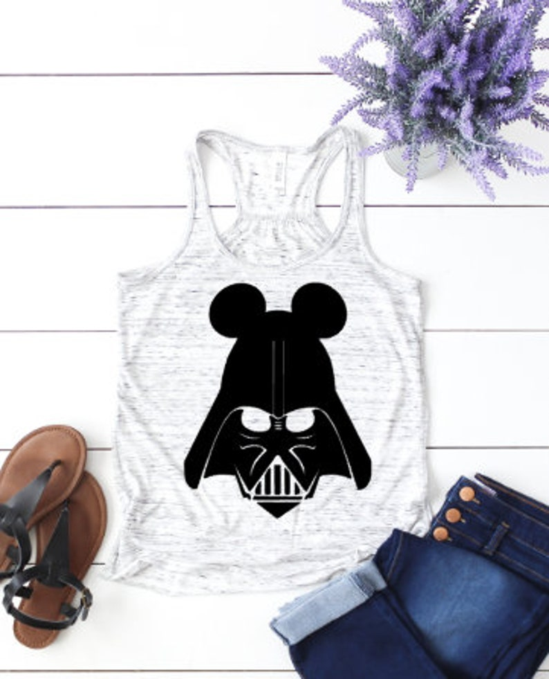 Darth Vader Mickey Ears Star Wars tank Disney fan tank image 0