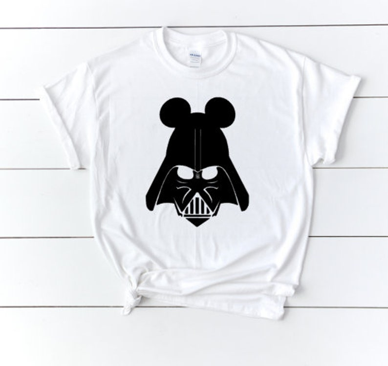 Mickey Mouse Star Wars Darth Vader BB 8 Funny Art T Shirt Kids Unisex Children