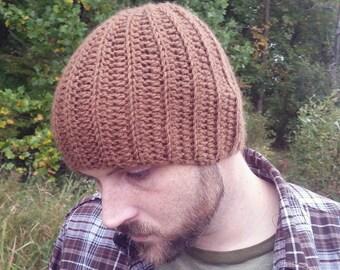 Men's Hipster Hat - Crochet Beanie Hat - Men's Skullcap - Stretchy Custom Beanie - Gift for Boyfriend - Custom Men's Hat