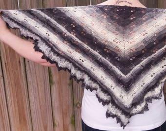 Mohair Shawl Wrap - Winter Wedding Shawl - Crochet Triangle Shawl - Crochet Shoulder Wrap
