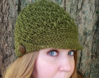 Women's Newsboy Hat - Newsboy Cap for Women - Custom Winter Hat - Brimmed Hat for Women - Women's Winter Hat - Women's Crochet Hat