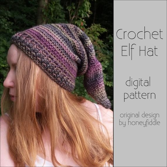 Crochet Elf Hat PATTERN  94d1c7e1fd6