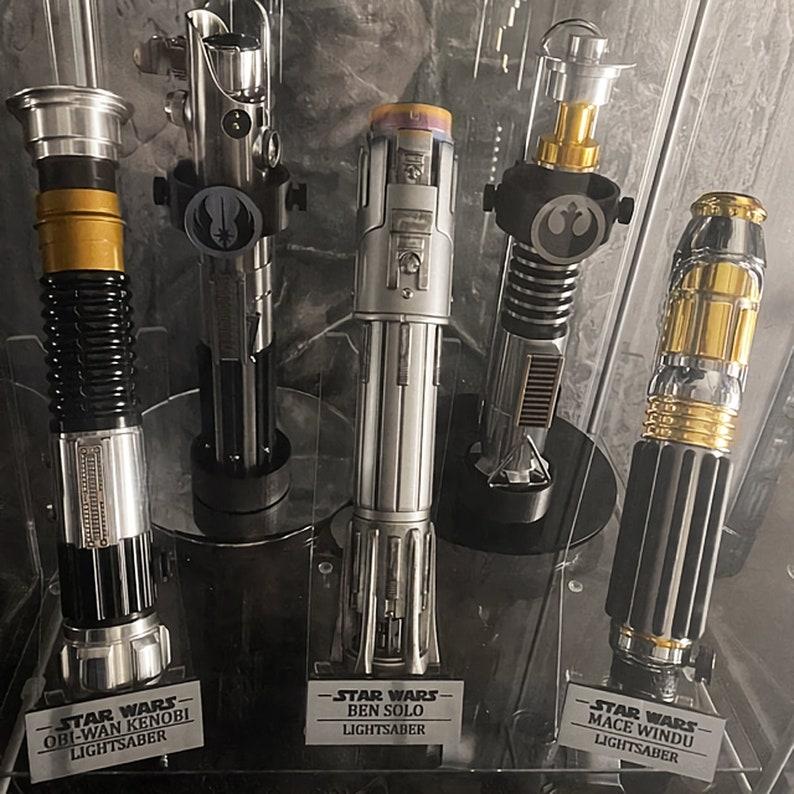 Lightsaber stand vertical custom engraved affordable image 0