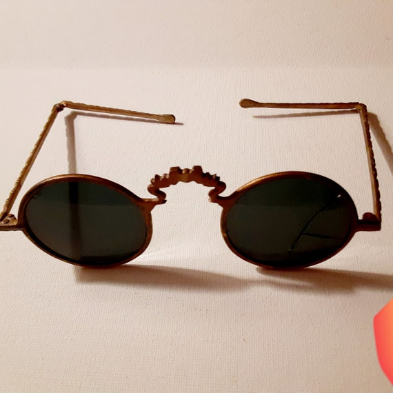 Vintage Brass Chinese Sunglasses NOS