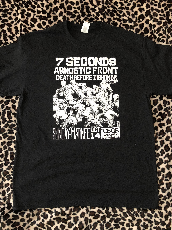 80s Tops, Shirts, T-shirts, Blouse   90s T-shirts 7 SecondsAgnostic Front Vintage Cbgb Flyer Tee $19.99 AT vintagedancer.com
