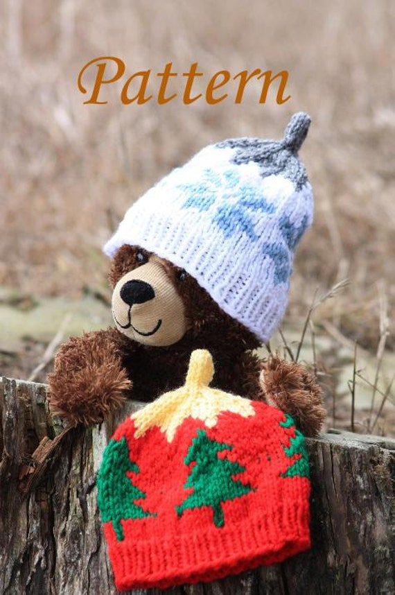 PATTERN Knit Christmas Ornament Hat with Christmas Tree or | Etsy