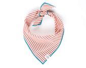 Red Stripe Dog Bandana Blue striped dog scarf Boy dog bandana Puppy bandanna