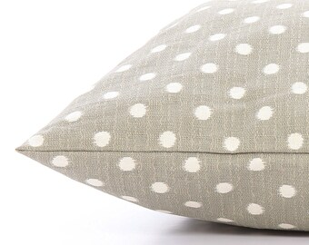 Gray Ikat Dots dog bed cover // Neutral polka dot pet bed cover // Modern dog bed duvet // Designer bed cover for small to large dogs