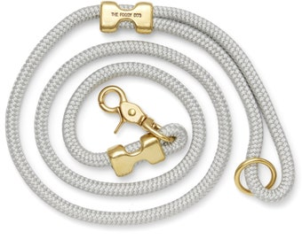 SECONDS SALE: Dove rope dog leash // Gray marine rope lead // Strong dog leash // Unique pet leash with minor flaws // 6' petite length
