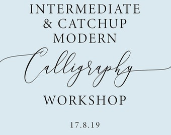 Intermediate Calligraphy workshop in Manchester, calligraphy class, calligraphy lesson, improving calligraphy, advanced modern calligraphy