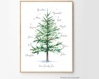 PRINTABLE personalised Christmas family tree