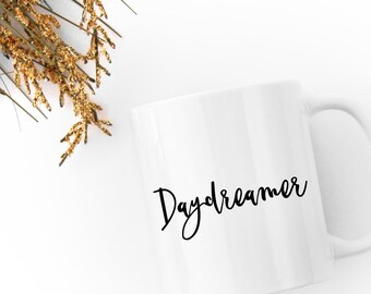 The daydreamer's mug - a prettily printed mug for daydreamers everywhere