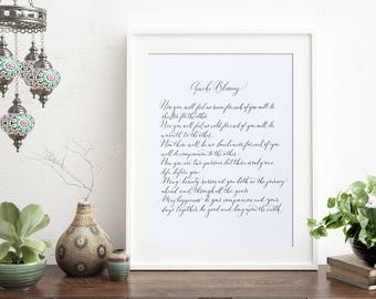 Apache Blessing wedding reading calligraphy print - popular wedding poem - Apache poem - native American blessing