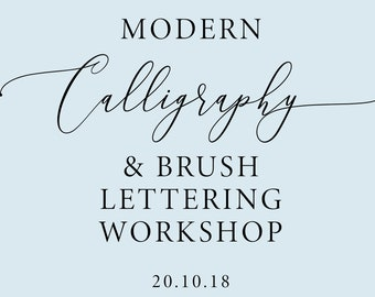 20th OCTOBER 2018 Modern calligraphy and brush lettering workshop in Manchester, calligraphy class, calligraphy lesson, beginner calligraphy