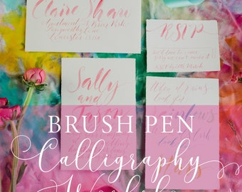 Brush Lettering Calligraphy Workshop in Manchester, calligraphy class, calligraphy lesson, beginner calligraphy, brush pen tutorial