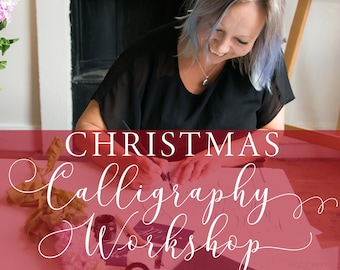 Christmas 2019 Calligraphy workshop in Manchester, calligraphy class, calligraphy lesson, improving calligraphy, festive calligraphy