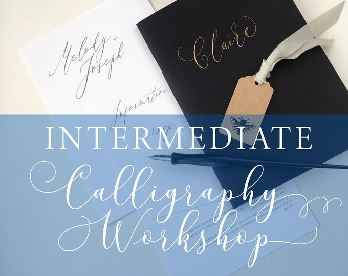 Featured listing image: Intermediate Calligraphy workshop in Manchester, calligraphy class, calligraphy lesson, improving calligraphy, advanced modern calligraphy