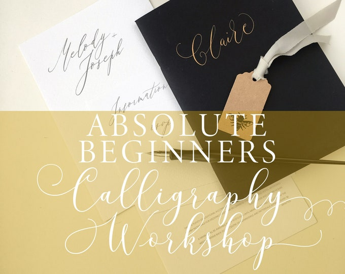 Featured listing image: Absolute Beginners Modern Calligraphy Workshop in Manchester, calligraphy class, calligraphy lesson, beginner calligraphy,