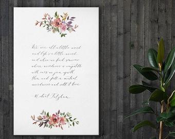 We are all a little weird - Robert Fulghum print, wedding reading, wedding poem, poem print