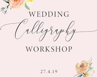 Wedding Calligraphy workshop in Manchester, calligraphy class, calligraphy lesson, beginner calligraphy