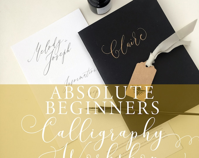 Featured listing image: Absolute Beginners Modern Calligraphy Workshop in Manchester on 5th July 2019, calligraphy class, beginner calligraphy