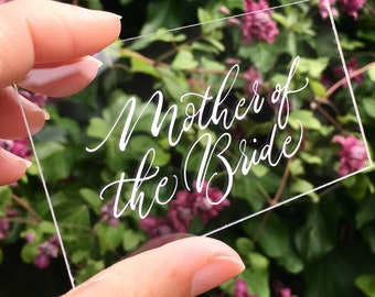 First names only - clear acrylic place names for weddings / handwritten / personalised / calligraphy service UK / clear placecards / signage