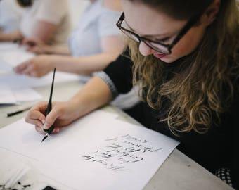 7TH SEPTEMBER 2018 Modern calligraphy workshop in Manchester