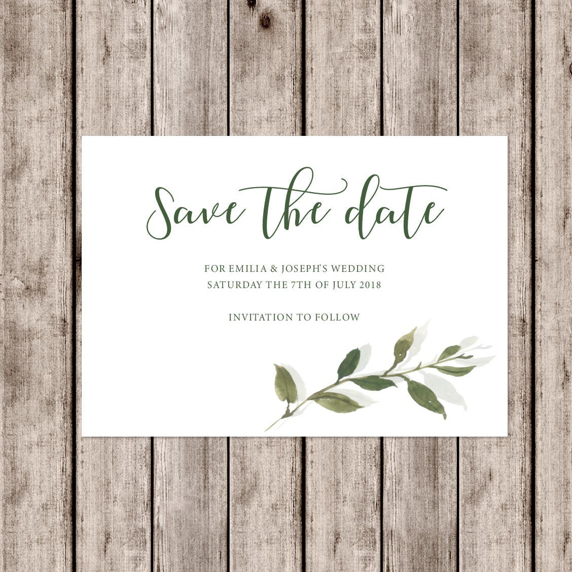 Sophisticated \'Somerset\' wedding invitations with leaf detail and ...