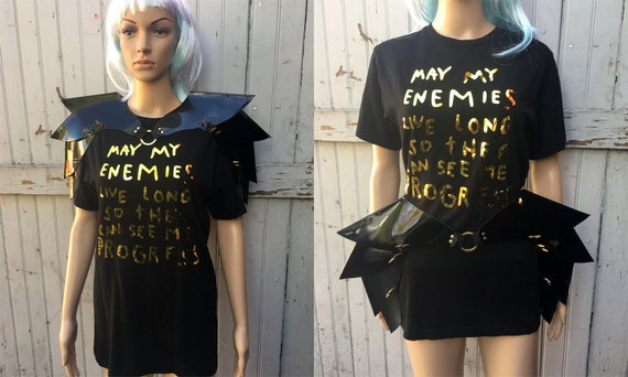 Shoulder armor or hip piece O ring futuristic cyber unique futuristic sci  fi mad max cosplay drag