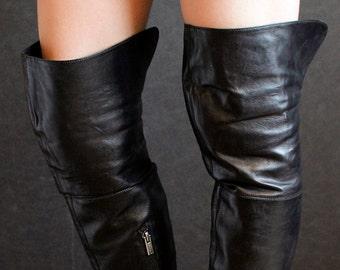 39f1325f63ac High R. Estima overknee boots victorian 90s design gothic stiletto heels  Spike heels OTK fetish goth thigh