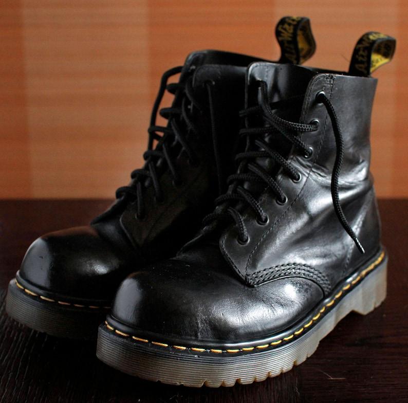 35c9e60d3db Dr Martens Steeltoe platform vintage boots 7eylet DOCS