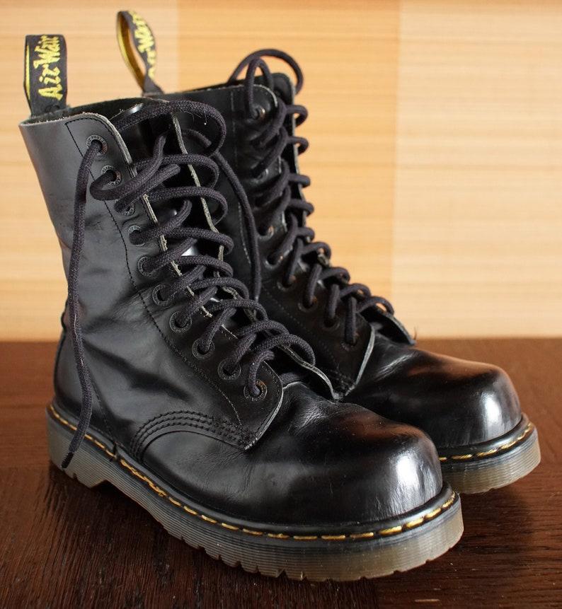 071b3de5881 Dr Martens Steeltoe INDUSTRIAL platform vintage boots 10eylet