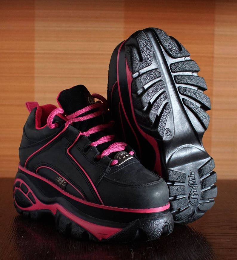 Buffalo platform sneakers techno 2000 Platform Rave Club Kid sneakers 90's  Techno SPICE Girls REBECCA&Fiona 90s sneakers chun