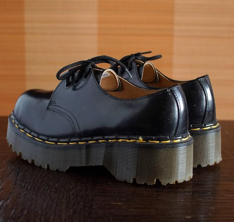 ce4d9ed5379 Dr Martens black platform shoes UNIQUE made in England vintage