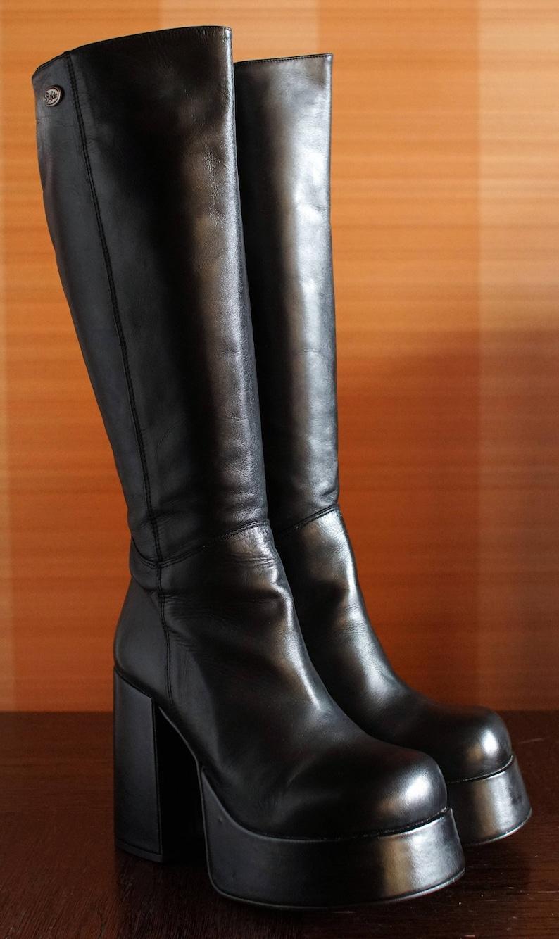 bc9b5ce83b85 NEW BUFFALO T-24400 CULT platform boots 90 s Club Kid