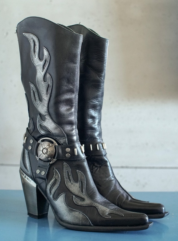 New Rock cowboy metal boots cowgirl