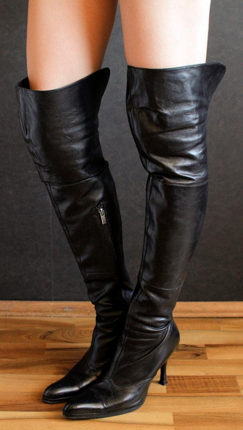 65c26d95c6591 High R. Estima overknee boots victorian 90s design gothic stiletto heels  Spike heels OTK fetish goth thigh