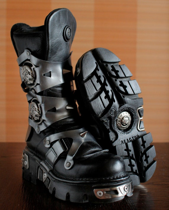 New Rock platform boots SUKLL Ghost Rider Studs Go