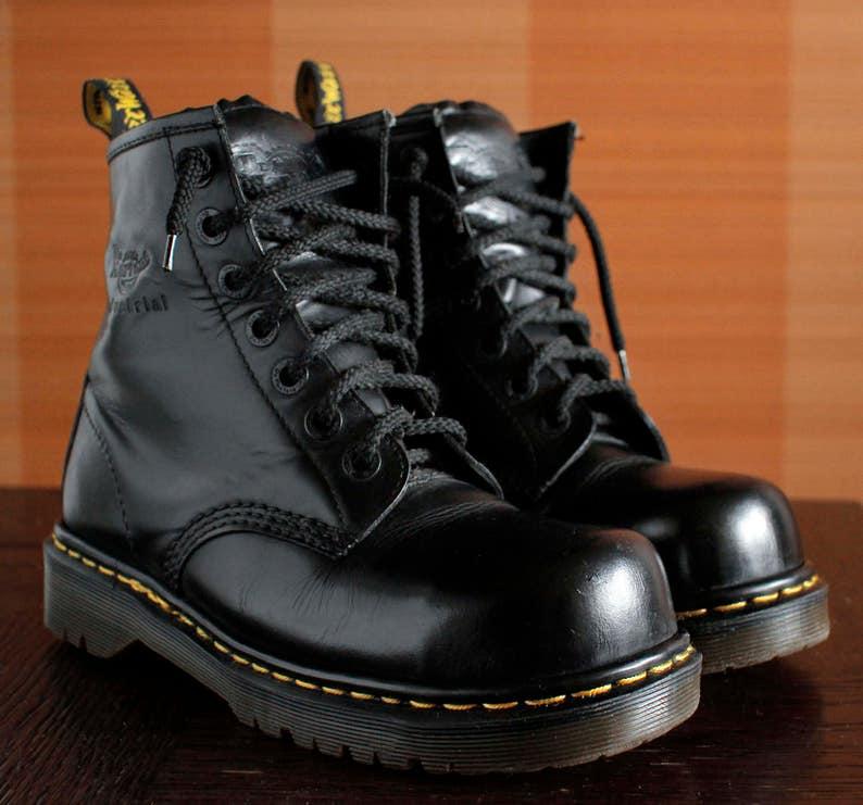 bbea901d1c3 Dr Martens Steeltoe INDUSTRIAL platform vintage boots 7eylet