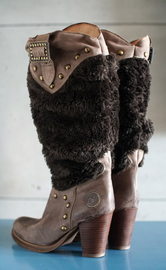 funky vintage DESTROY cowgirl brown boots DY Spai… - image 7