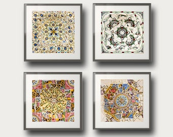 Gaudí Barcelona Wall Art Wall Decor Gallery wall prints Set of 4 photos Fine Art, wall art set