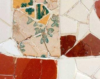Abstract Wall art prints Mosaic Tile print Gaudi, Spanish tile, decorative tiles, Contemporary art