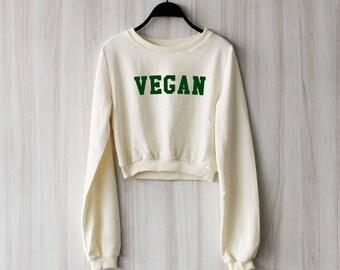 e6a97ba0 Vegan crop top | Etsy